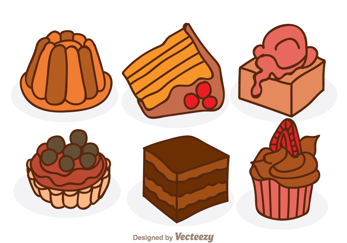 Cartoon Chocolate Cake Download Free Vectors Clipart