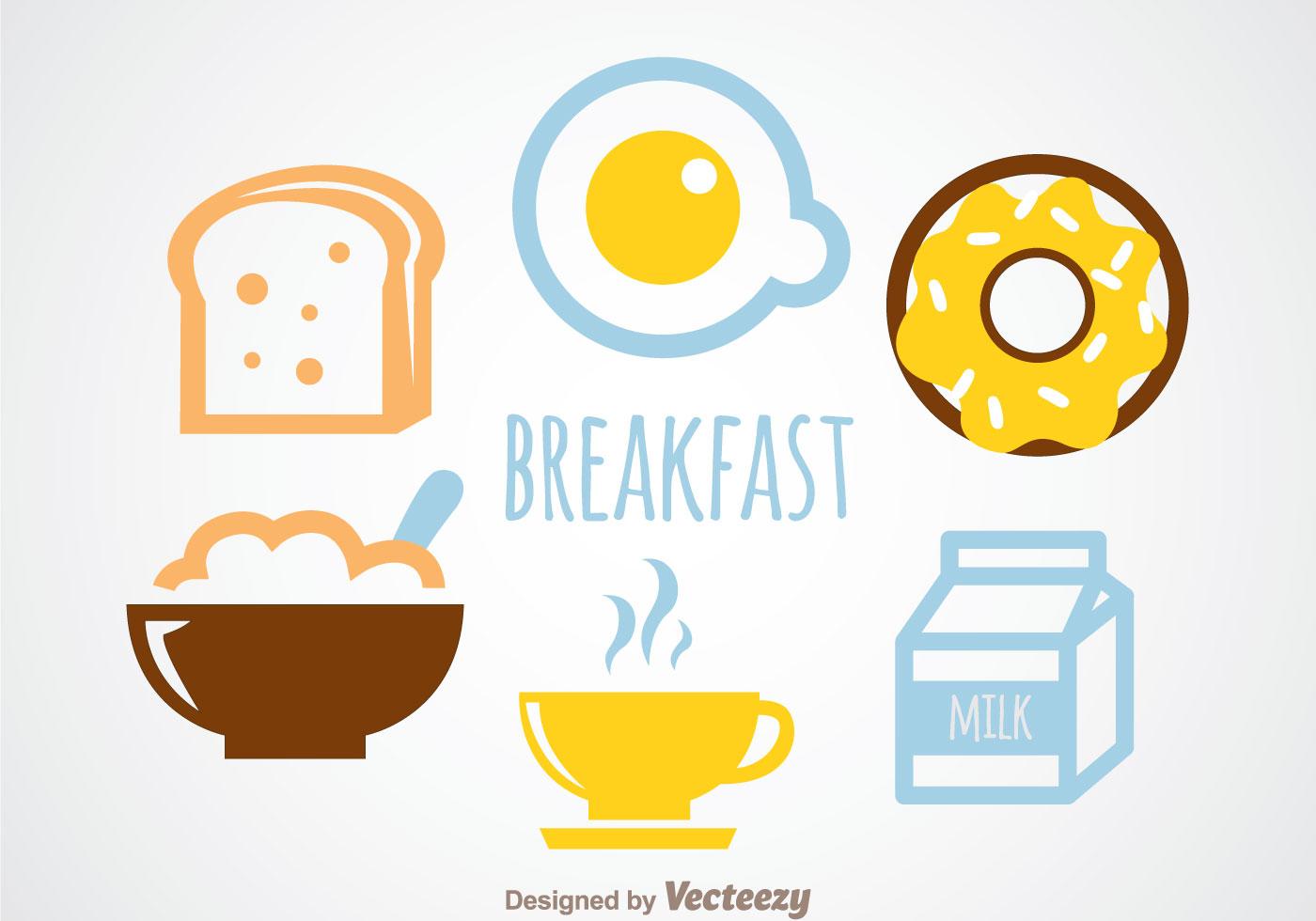 breakfast vector download free vector art stock