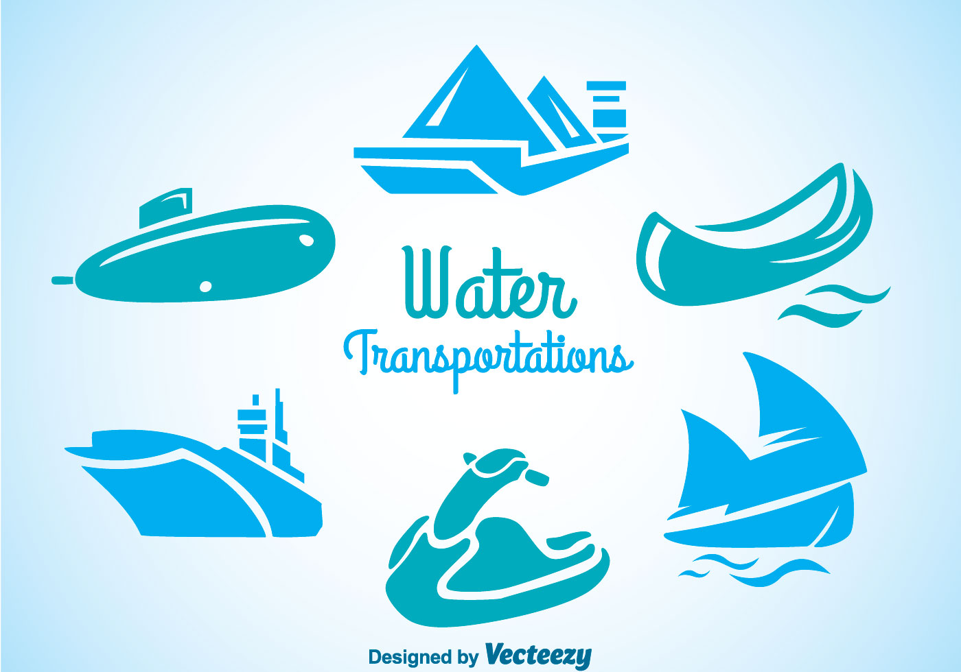 Water Transportation Icons - Download Free Vector Art ...