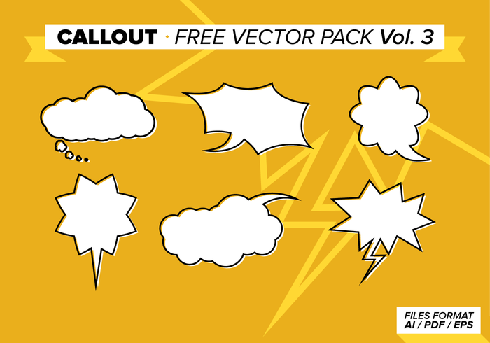 Callout Gratis Vector Pack Vol. 3