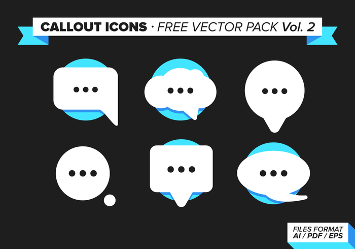 Callout iconen Gratis Vector Pack Vol. 2