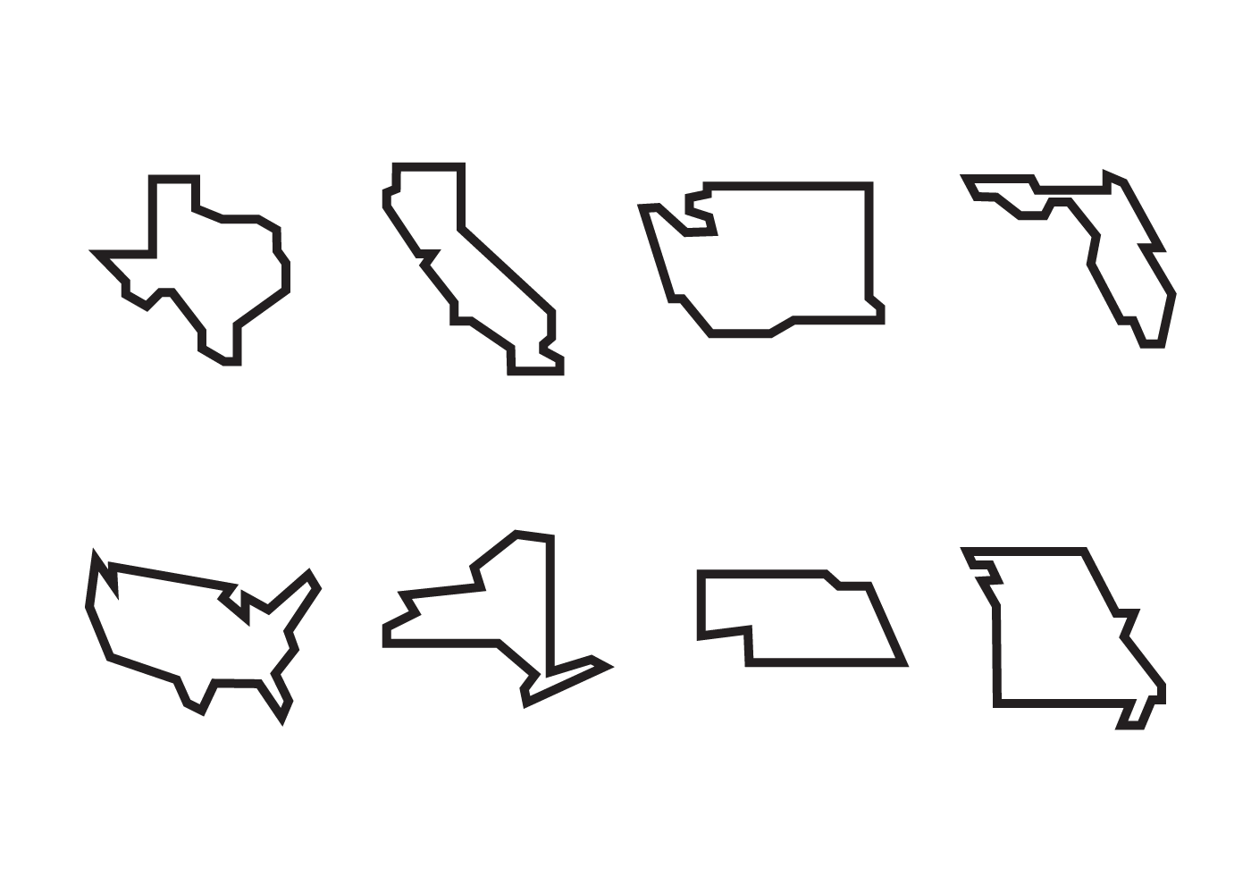 vector outlines