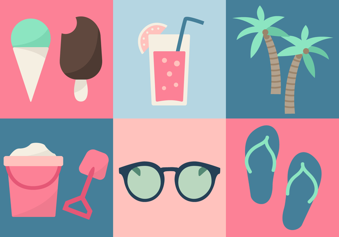 Gratis Beach Elements Vector