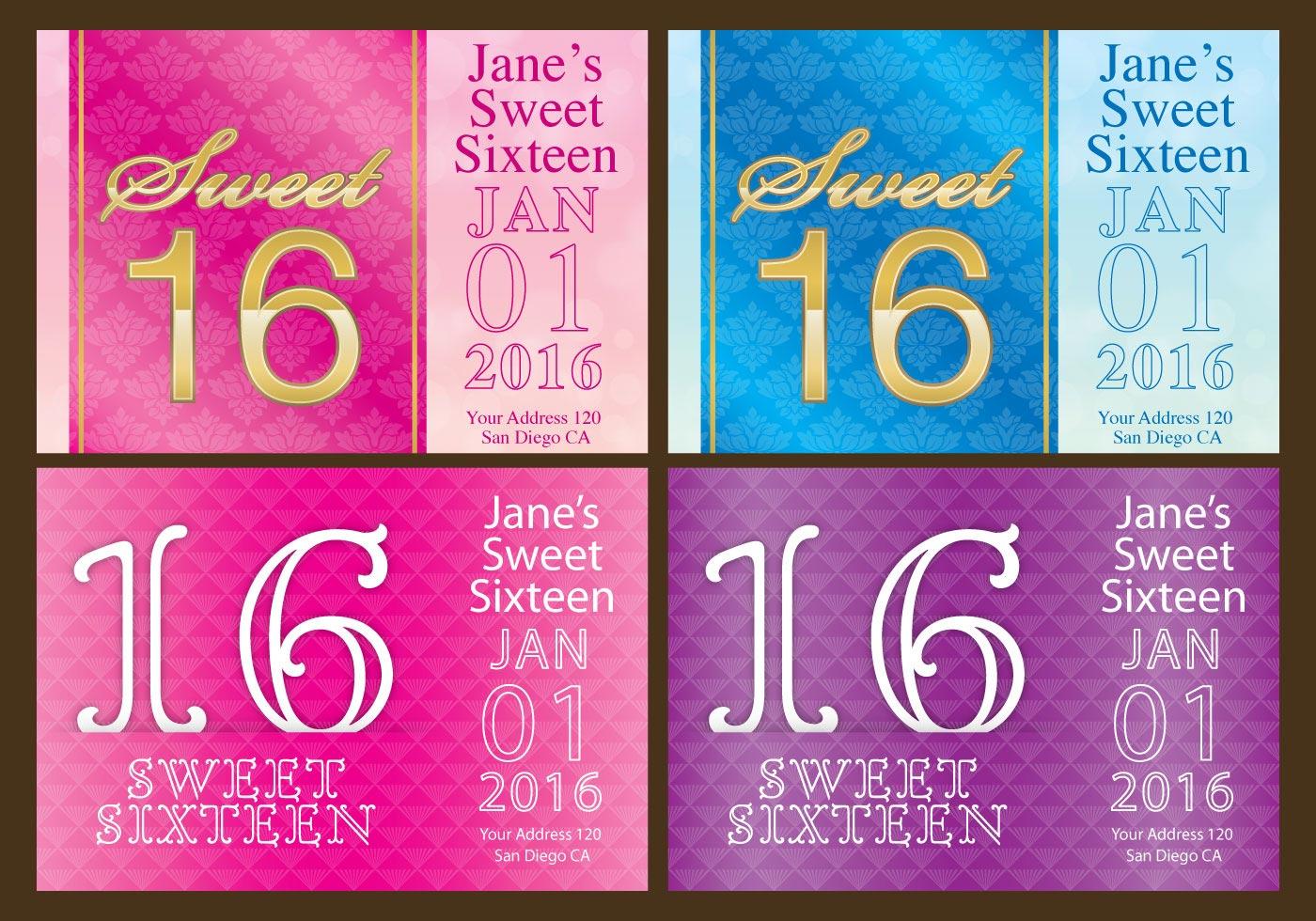 Sweet 16 Flyers - Download Free Vector Art, Stock Graphics ...