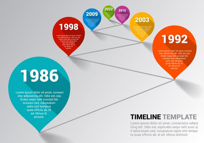 Free Timeline Template Vector  Download Free Vector Art Stock