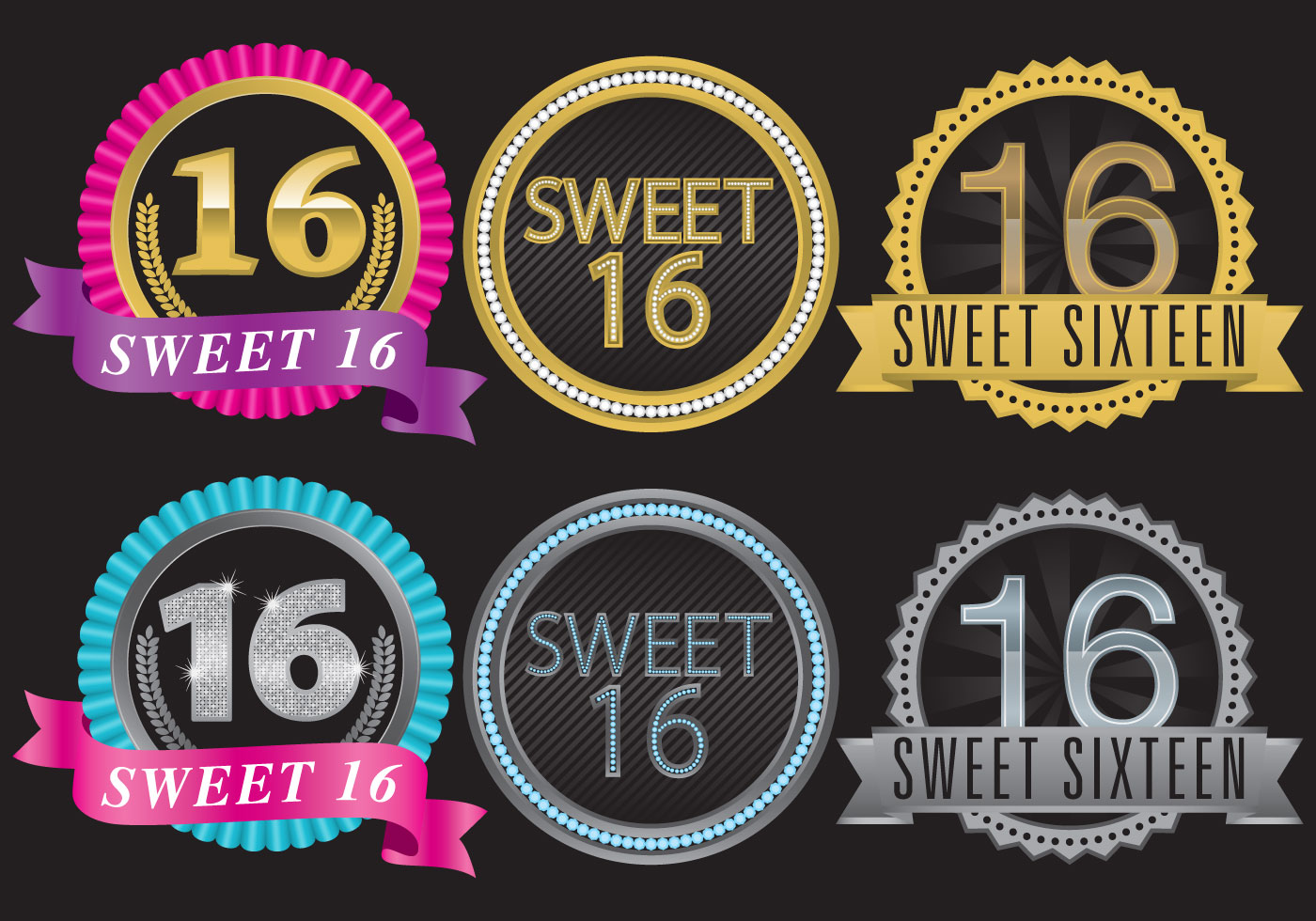 Sweet Sixteen Invitation with beautiful invitation template