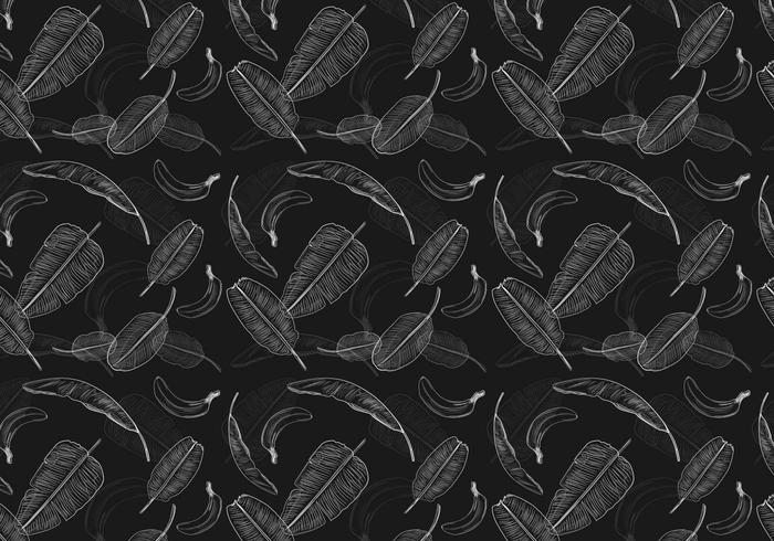 Bananenblatt Muster Vektor