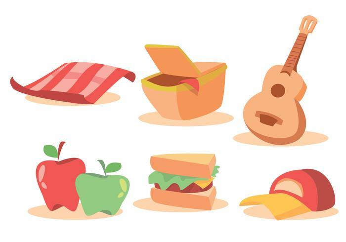 Familie Picnic Vector Set