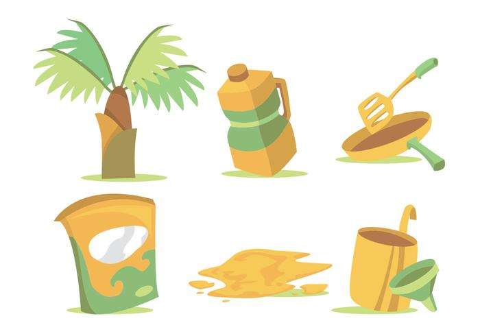 Palm Olie Vector Set