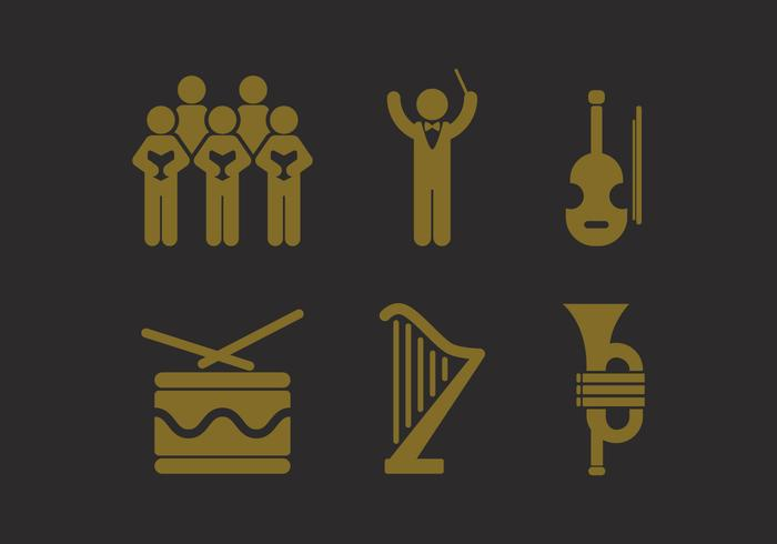 Vector Choir Icon Set