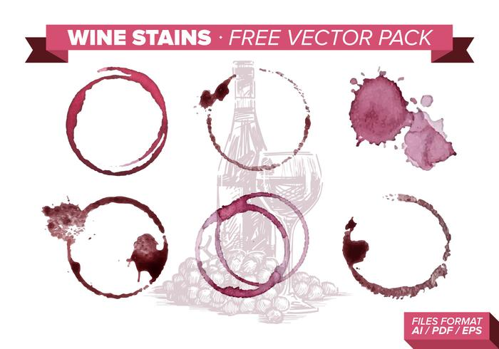 Wine Stains Free Vector Pack