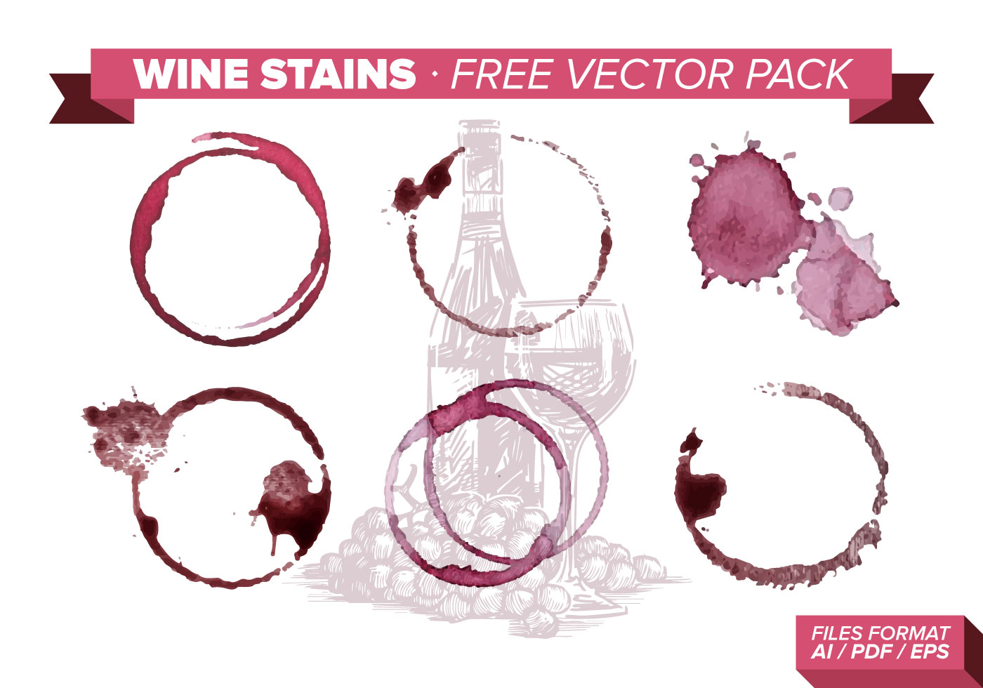 Wine Stains Free Vector Pack Download Art