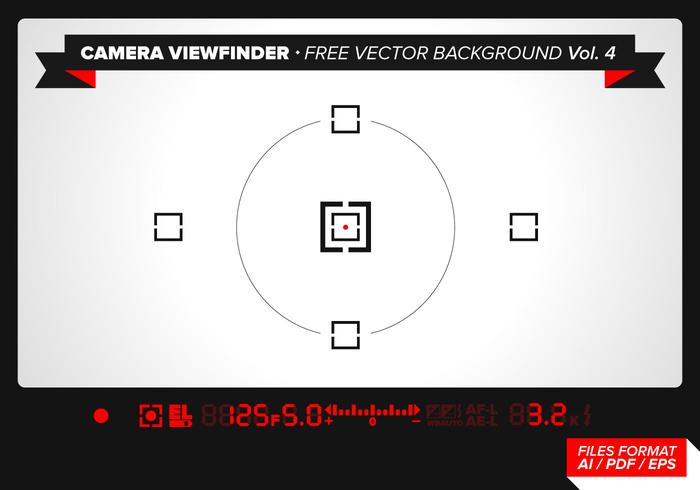 Camera Viewfinder Free Vector Background Vol. 4