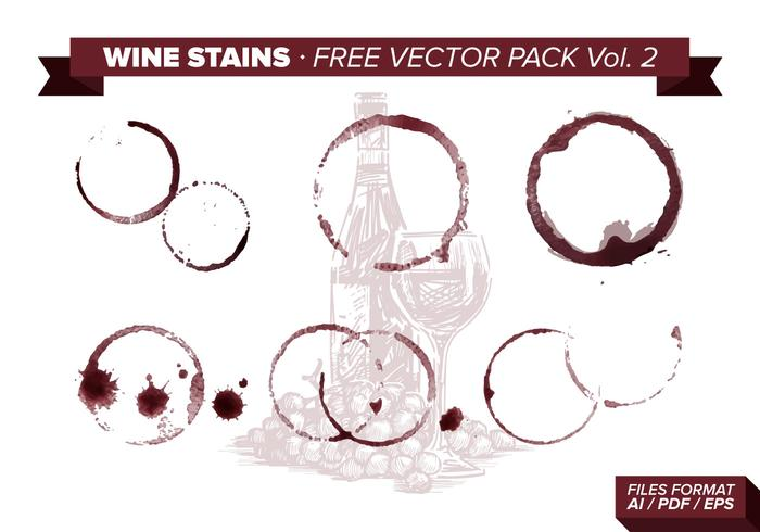 Wine Stains Free Vector Pack Vol. 2
