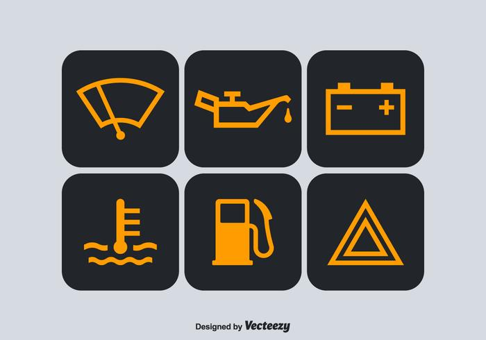 Free Car Dashboard Vector Symbols Download Free Vector Art - Car sign on dashboard