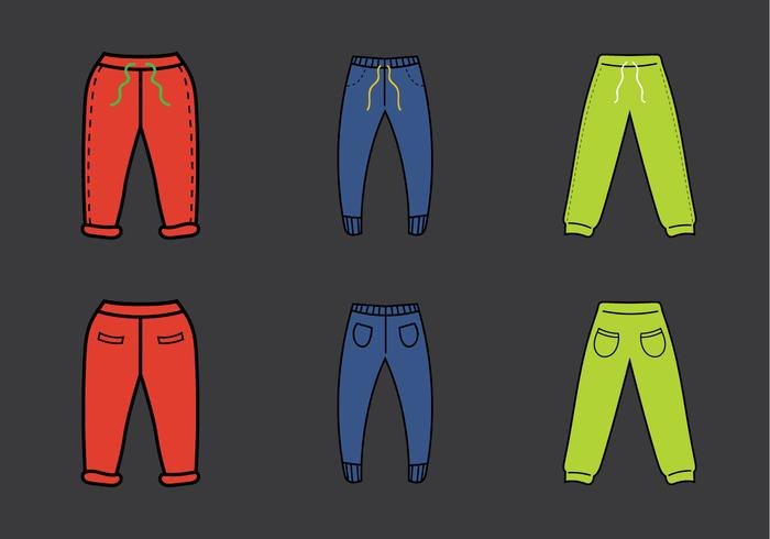 Free Sweatpants Vector Illustration