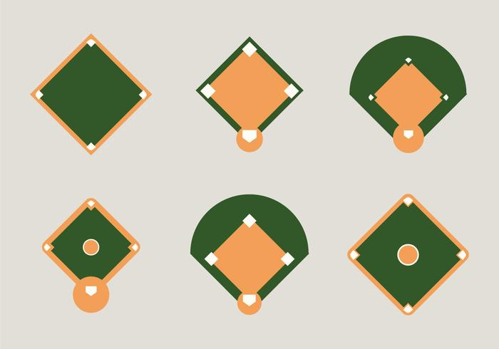 Free Baseball Diamond Vector Illustration