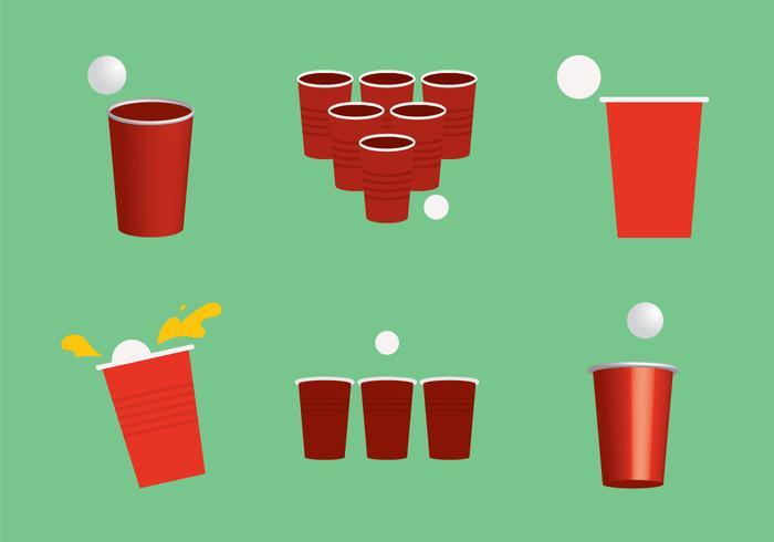 Free Beer Pong Vector Illustration