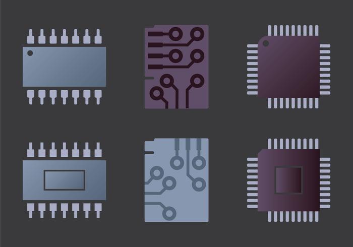 Microchip ilustración vectorial libre