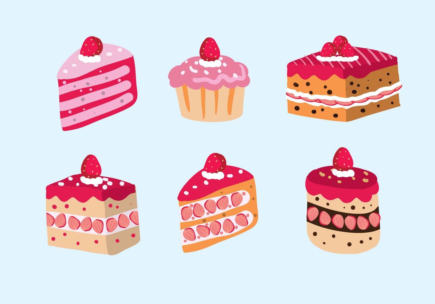Strawberry shortcake Vector Image