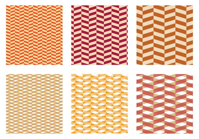 Herringbone Pattern Yellow Vector