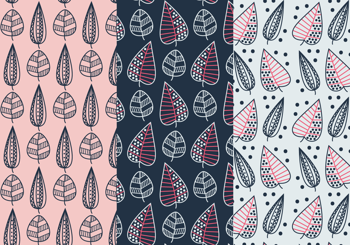 Free Geometric Leaves Pattern Vector