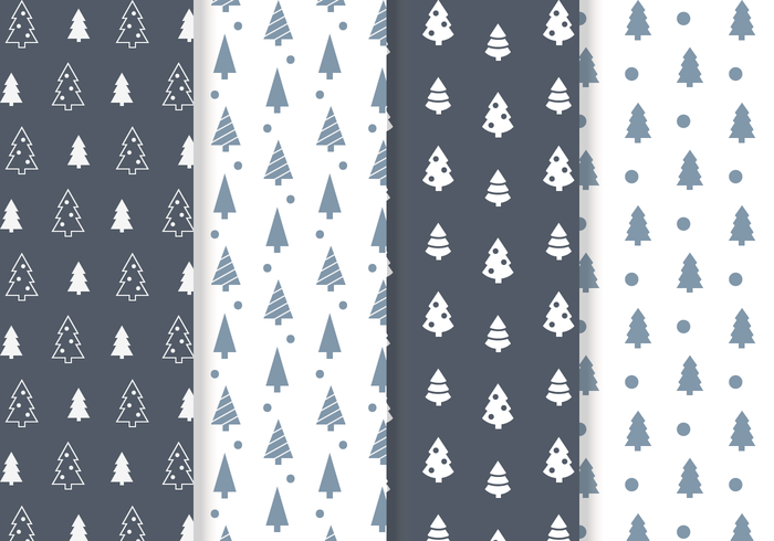 Free Christmas Tree Pattern Vector