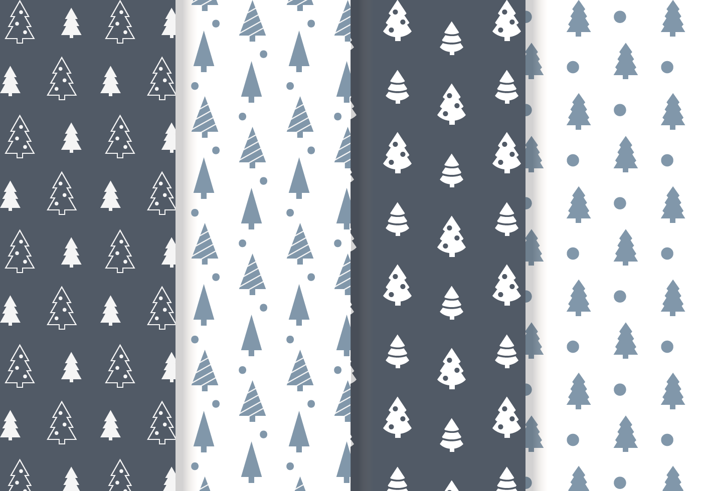 Free Christmas Tree Pattern Vector - Download Free Vector ...