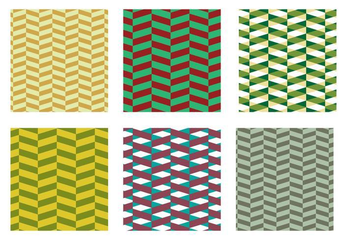 Herringbone Pattern Green Vector