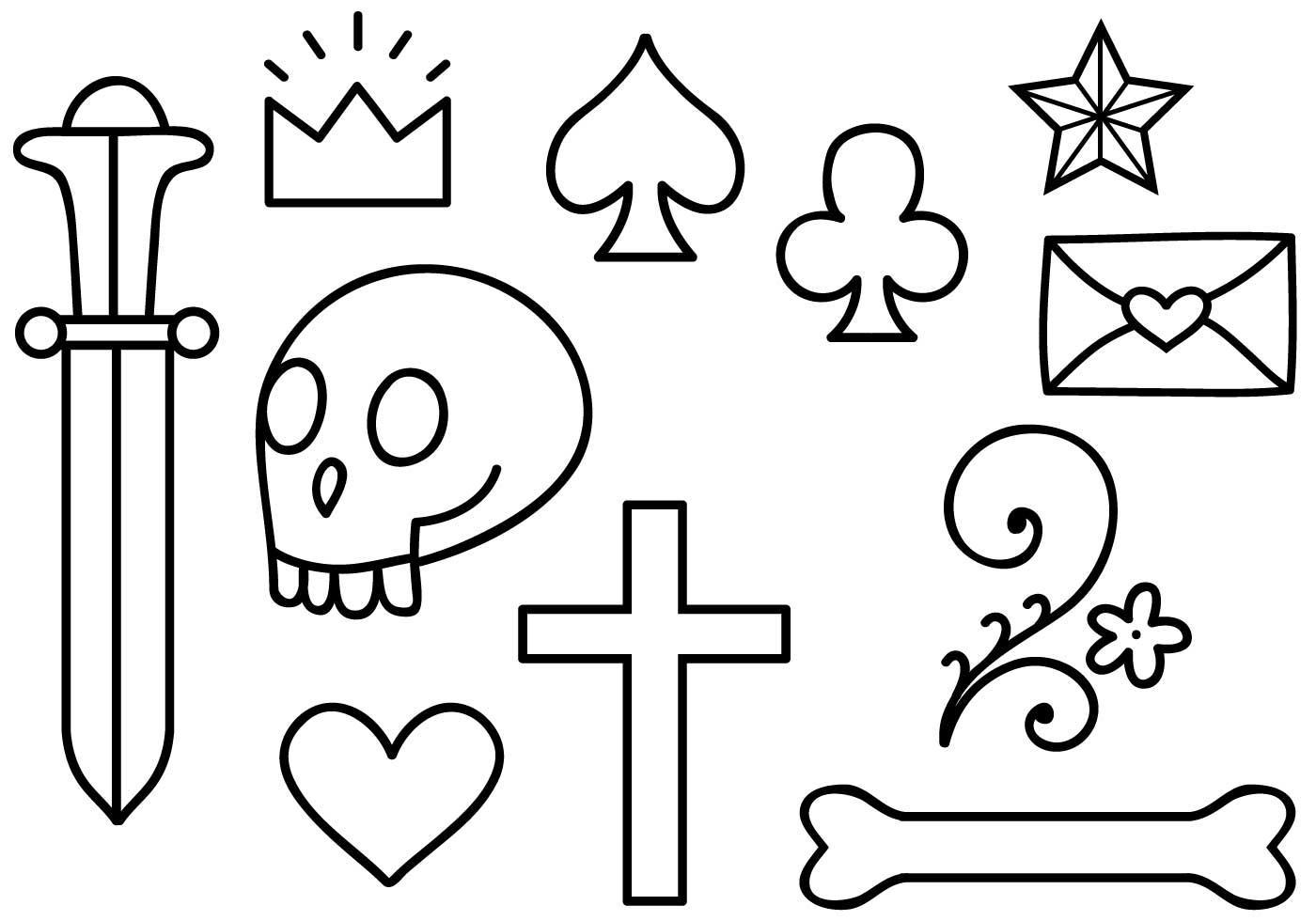 Free Old School Tattoo 2 Vectors Download Free Vector Art Stock