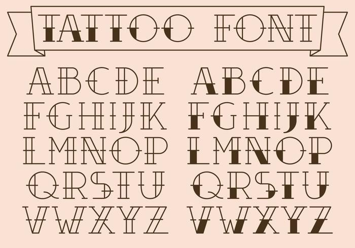 Free Tattoo Lettering Alphabet
