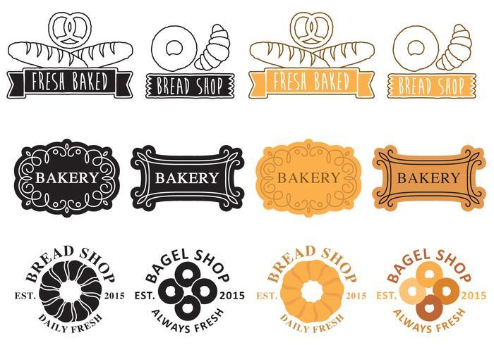 Logos de boulangerie vecteur