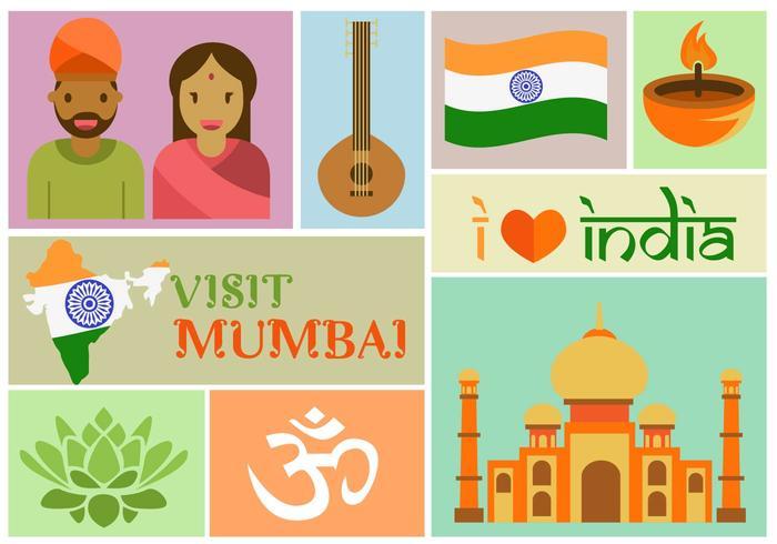 Visita Mumbai vector