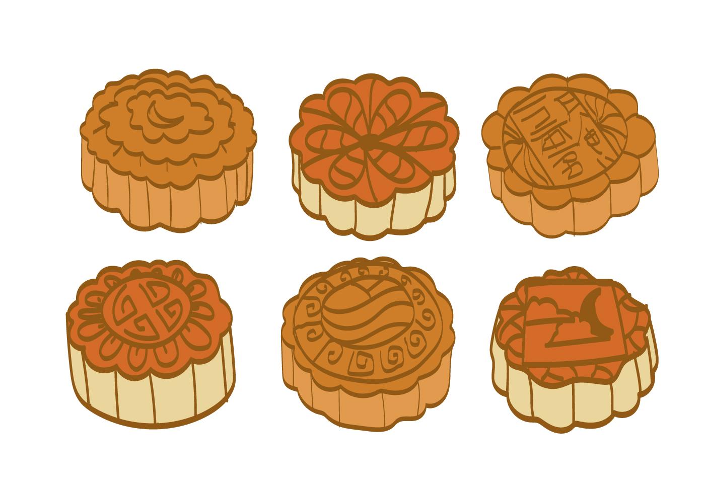 Moon Cake Vector - Download Free Vector Art, Stock ...