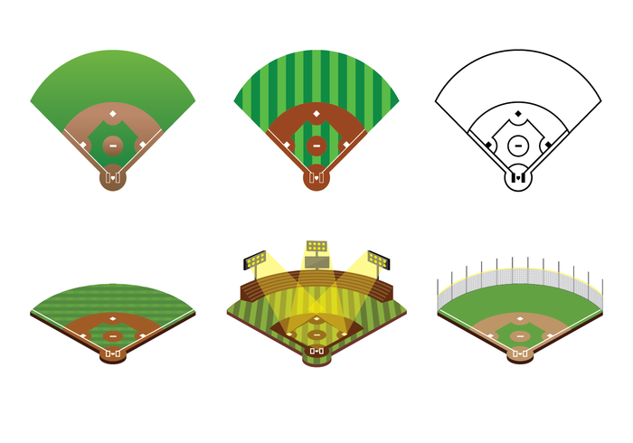 Gratis Baseball Diamond Vector