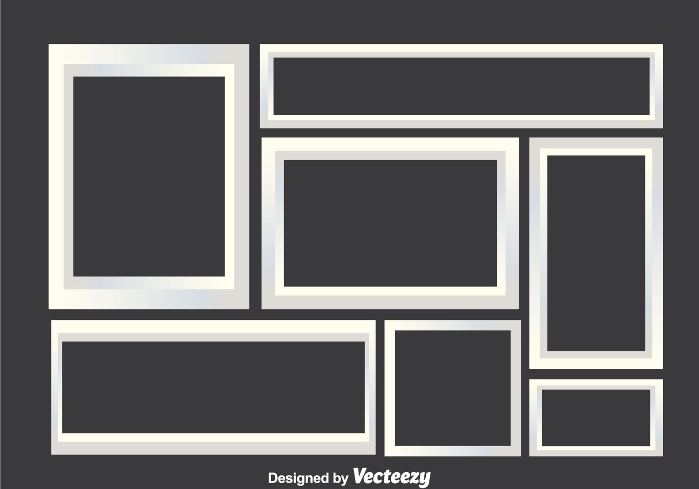 White Photo Collage Frames - Download Free Vector Art, Stock ...