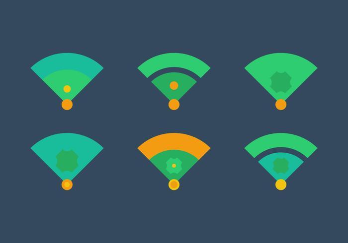 Free Baseball Vektor Icon Illustrationen # 2
