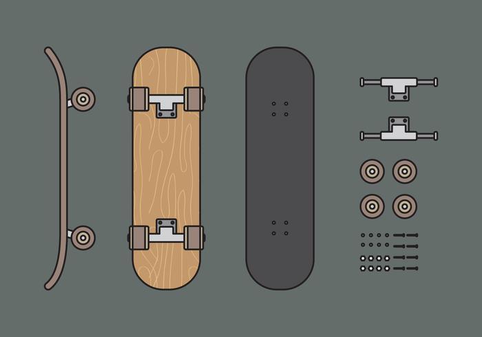 Vector Skateboard Illuustration Set