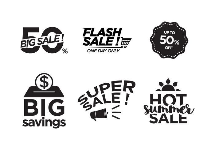 Vector verkoop symbolen
