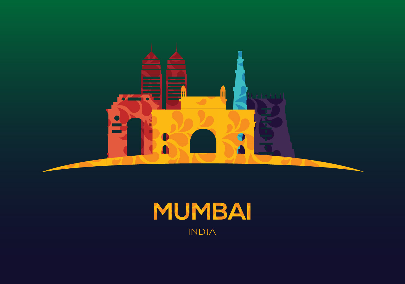 Mumbai Vector - Download Free Vector Art, Stock Graphics & Images