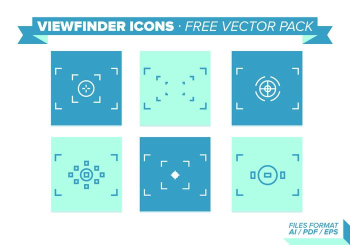 Viewfinder Icons Free Vector Pack