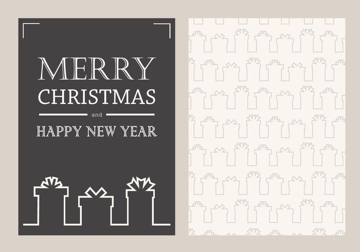 Free Christmas Card Vector