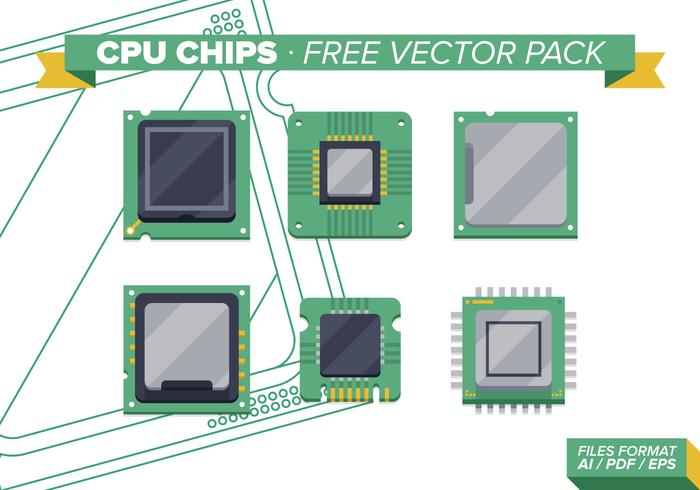 Cpu Chips Free Vector Pack Vol. 2