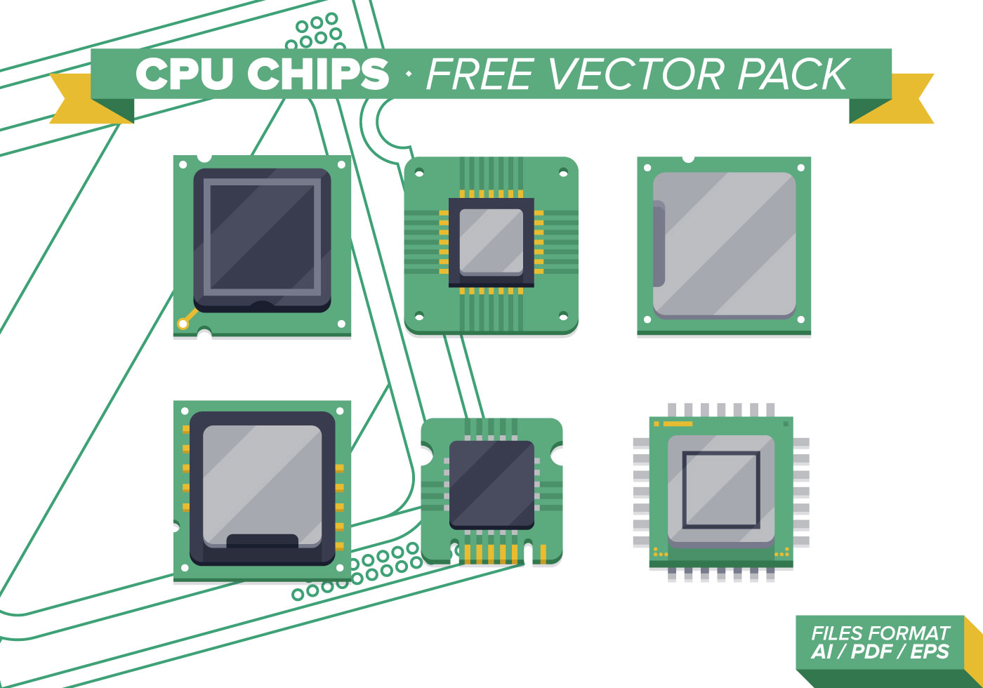 Cpu Chips Free Vector Pack Vol. 2 - Download Free Vector ...