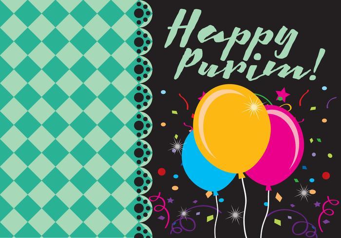 Happy Purim Card vector