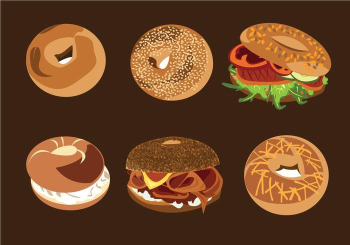 Vecteurs de pain de bagel