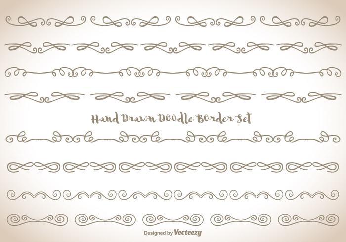 Hand gezeichnetes Gekritzel-Grenzsatz
