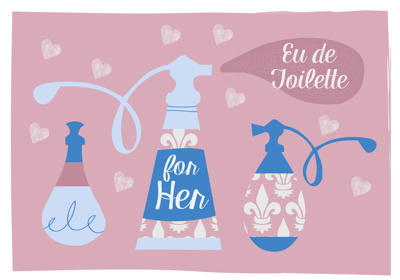 Perfume Vector Background Illustration Download Free