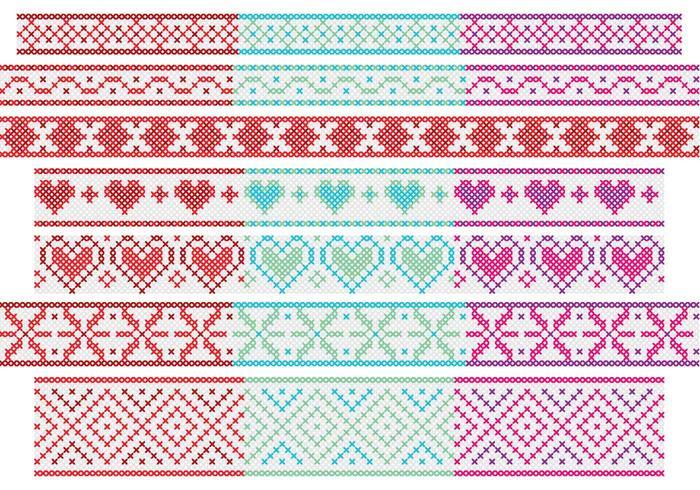 Banners cross stitch