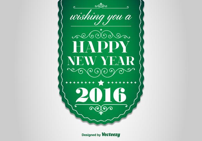 Gott nytt år 2016 Etikett